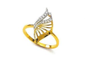 Bling! Real Gold And Diamond Fancy Ring Bgr036
