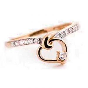 Superb Look Heart Shape Diamond Ring Bgr068