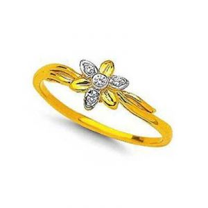 Beautiful Flower Shape Diamond Ring Bgr074