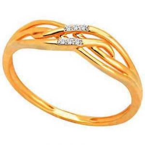 Daily Wear Fancy Ribbon Shape Diamond Ring Bgr076
