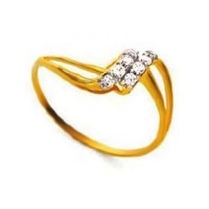 Twested L Shape Diamond Ring Bgr082