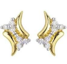 Kiara,Surat Tex,Tng,Avsar Women's Clothing - Bold American Diamond  Leaf Shape Earring BOE005