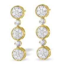 Kiara,Jharjhar,Soie,Avsar,Pick Pocket Gold Jewellery - Bold American Diamond 3 Flower Dangling Earring