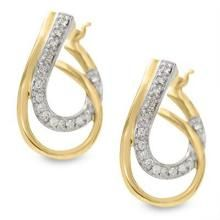 Bold American Diamond Double Drop Earring Boe017