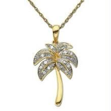 Bold American Diamond Coconuttree Shape Pendant