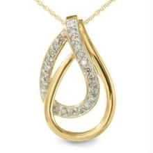 Bold American Diamond Double Drop Pendant