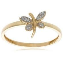 Bold Cz Diamond Four Stone Butterfly Ring Bor001