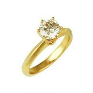 Solitaire Engagement 14k Gold Diamond Ring