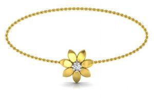 Gold Bangles, Bracelets - Avsar Real Gold and Swarovski Stone  Kalpita Bangle14YB