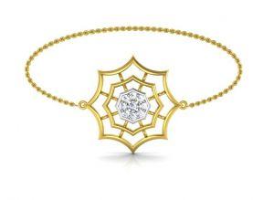 Gold Bangles, Bracelets - Avsar Real Gold and Swarovski Stone  mamata  Bangle17YB