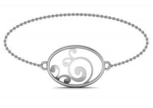 Gold Bangles, Bracelets - Avsar Real Gold and Swarovski Stone Janvi Bangle18WB