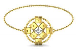 Gold Bangles, Bracelets - Avsar Real Gold and Swarovski Stone  Bhopal Bangle19YB