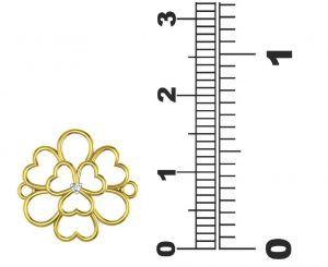 Nose pins & nose rings - Avsar Real Gold and Swarovski Stone Gauri Nose Ring  AVN019WB