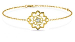 Avsar Real Gold And Swarovski Stone Mamata Bangle04yb