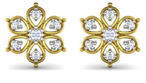 Avsar Real Gold And Swarovski Stone Preeti Earring Bge003yb