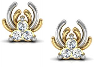 Kiara,La Intimo,Shonaya,Avsar Women's Clothing - Bling!Real Gold and Diamonds Rajastan Earrings BGE013