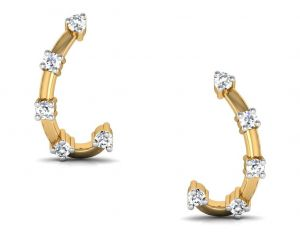 Avsar Real Gold And Cubic Zirconia Stone Ankita Earring( Code - Bge020yb )