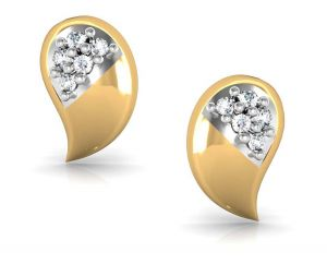 Avsar Real Gold And Diamond Mayuri Earring Bge021a