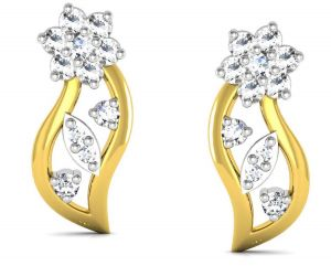 Avsar Real Gold And Diamond Madhavi Earring Bge023a
