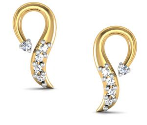 Avsar Real Gold And Swarovski Stone Aarohi Earring Bge024yb