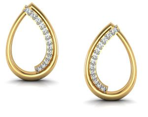 Avsar,Ag,Lime,Kalazone,Shonaya Gold Jewellery - Avsar Real Gold and  Swarovski Stone Suchita Earring BGE025YB