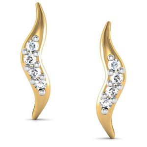 Avsar Real Gold And Diamond Geet Earring Bge027a