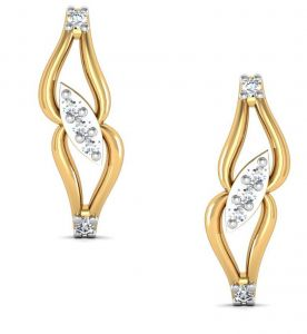 Avsar Real Gold And Diamond Rajvi Earring Bge035a