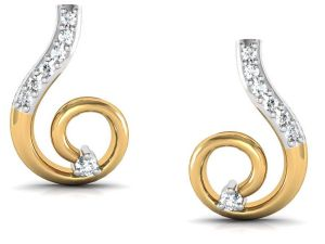 Avsar Real Gold And Diamond Anjali Earring Bge036a