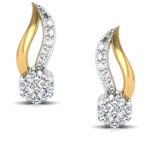 Avsar Real Gold And Diamond Sneha Earring Bge045a