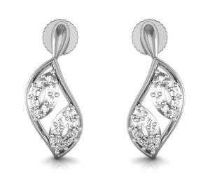 Avsar Real Gold And Cubic Zirconia Stone Sachi Earring( Code - Bge056wb )