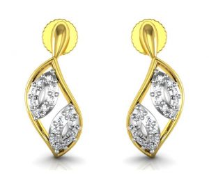 Avsar Real Gold And Cubic Zirconia Stone Mira Earring( Code - Bge056yb )