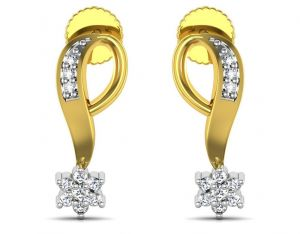 Avsar Real Gold And Swarovski Stone Panjab Earring Bge062yb