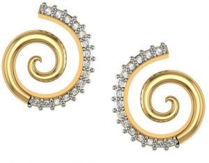 Avsar Real Gold And Cubic Zirconia Stone Varsha Earring( Code - Bge088yb )