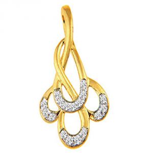 Gold Pendant Sets - Avsar Real Gold and Diamond Anjali Pendant ( Code - BGP038N )