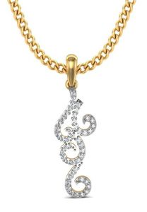 Avsar Real Gold And Swarovski Stone Kareena Pendant Bgp043yb