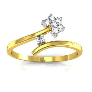 Bling Ring! Real Gold And Diamonds Kajal Ring Bgr004