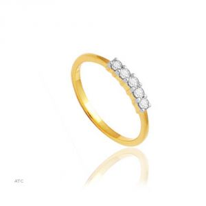Avsar Real Gold And Diamond Niharika Ring ( Code - Bgr012n )