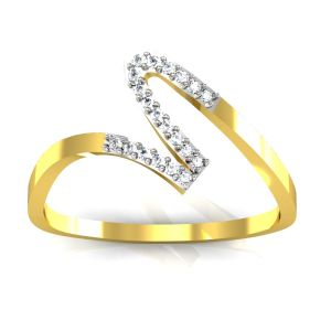 Bling Ring!real Gold And Diamonds Anushka Rings Bgr014
