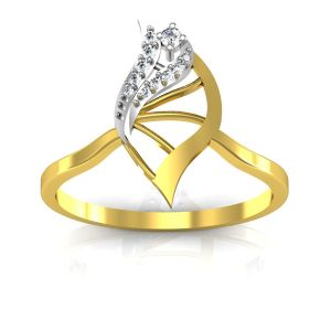 Bling Ring!real Gold And Diamonds Kajal Ring Bgr036