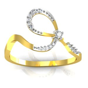 Bling Ring!real Gold And Diamonds Anjalee Rings Bgr037