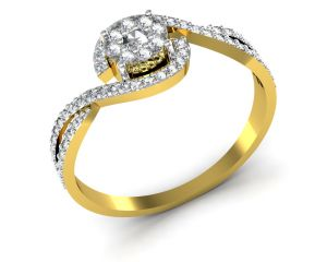 Avsar Real Gold And Swarovski Stone Pradnya Ring Bgr048yb
