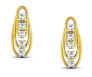 avsar,unimod,lime,clovia,kalazone,ag,jpearls,sangini Silver Earrings - Avsar Real Gold and Swarovski Stone Varsha Earring BOE007A