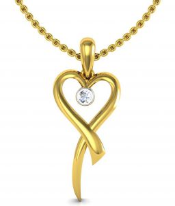 avsar Fashion, Imitation Jewellery - Avsar Real Gold and Swarovski Stone Aruna Pendant BOP004A