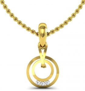 Avsar Women's Clothing - Avsar Real Gold and Swarovski Stone Mira Pendant BOP005A