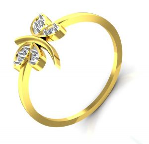 Avsar Real Gold And Swarovski Stone Shraddha Ring Bor001a