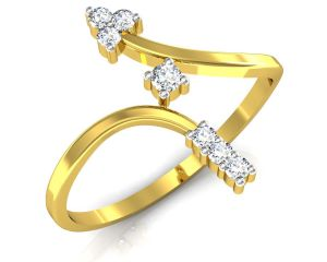 Avsar Real Gold And Swarovski Stone Anjali Ring Bor004a