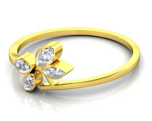 Avsar Real Gold And Swarovski Stone Aakansha Ring Bor013a