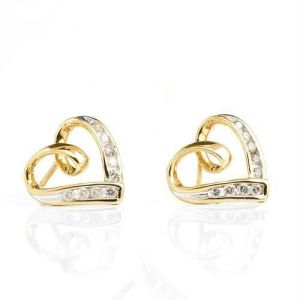 Kiara,Sukkhi,Avsar,Sangini,Parineeta,Lime Women's Clothing - Champagne 14k Gold Diamond Earring