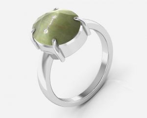 Kiara Jewellery Certified Lehsuniya 3.9 Cts Or 4.25 Ratti Cats Eye Ring