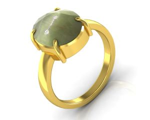 Kiara Jewellery Certified Lehsuniya 4.8 Cts Or 5.25 Ratti Cats Eye Ring